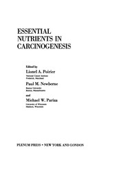 Cover of: Essential Nutrients in Carcinogenesis | Lionel A. Poirier