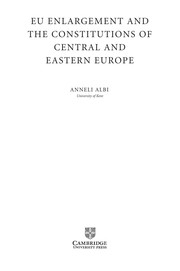 Cover of: EU enlargement and the constitutions of Central and Eastern Europe | Anneli Albi