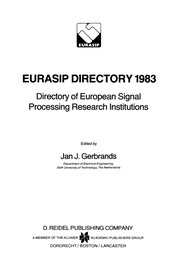 Cover of: EURASIP Directory 1983 | Jan J. Gerbrands