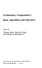 Cover of: Basic algorithms and operators |