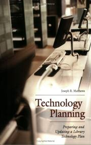Cover of: Technology planning | Joseph R. Matthews