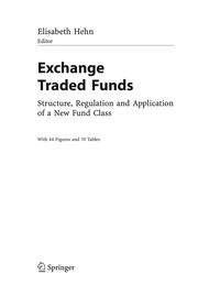 Cover of: Exchange traded funds |