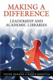 Cover of: Making a Difference | Peter Hernon