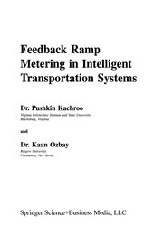 Cover of: Feedback Ramp Metering in Intelligent Transportation Systems | Pushkin Kachroo