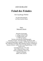 Cover of: Feind des Feindes