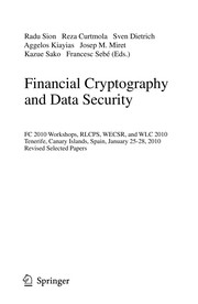 Cover of: Financial Cryptography and Data Security | Radu Sion