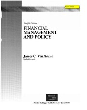Cover of: Financial management and policy | James C. Van Horne