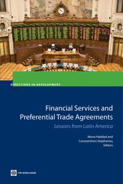 Cover of: Financial services and preferential trading arrangements