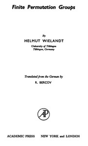 Cover of: Finite permutation groups | Helmut Wielandt