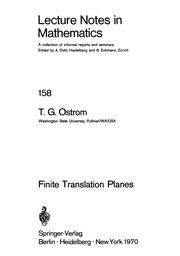 Cover of: Finite translation planes