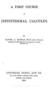 Cover of: First course in infinitesimal calculus | Daniel A. 1862 Murray
