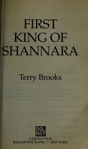 Cover of: First king of Shannara | Terry Brooks