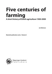 Cover of: Five centuries of farming | Jan Bieleman