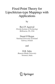 Cover of: Fixed point theory for Lipschitzian-type mappings with applications | Ravi P. Agarwal