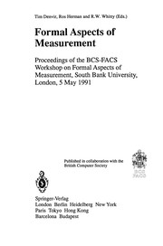 Cover of: Formal Aspects of Measurement | Tim Denvir