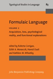 Cover of: Formulaic language |