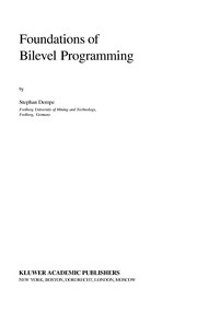 Cover of: Foundations of bilevel programming | Stephan Dempe