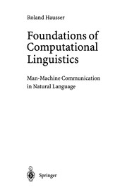 Cover of: Foundations of Computational Linguistics | Roland Hausser