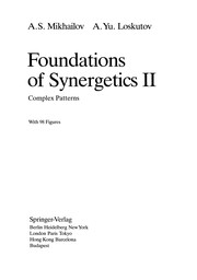 Cover of: Foundations of Synergetics II | Alexander S. Mikhailov