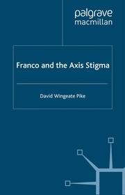 Cover of: Franco and the Axis stigma