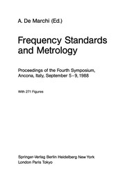 Cover of: Frequency Standards and Metrology | Andrea Marchi