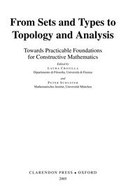 Cover of: From sets and types to topology and analysis |