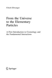 Cover of: From the Universe to the Elementary Particles | Ulrich Ellwanger