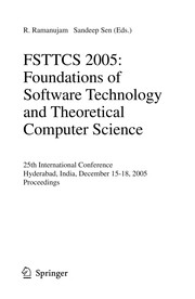 Cover of: FSTTCS 2005 | Conference on Foundations of Software Technology and Theoretical Computer Science (25th 2005 Hyderabad, India)