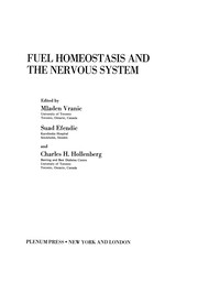 Cover of: Fuel Homeostasis and the Nervous System | Mladen Vranic