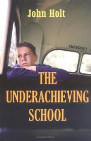 Cover of: The underachieving school