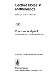 Cover of: Functional analysis II |