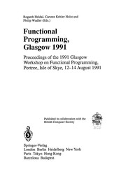 Cover of: Functional Programming, Glasgow 1991 | Rogardt Heldal