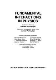 Cover of: Fundamental Interactions in Physics | Arnold Perlmutter
