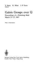 Cover of: Galois groups over Q |