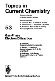 Cover of: Gas-phase electron diffraction. |