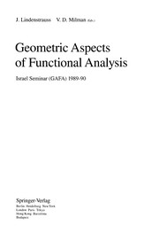 Cover of: Geometric aspects of functional analysis