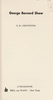 Cover of: George Bernard Shaw | G. K. Chesterton
