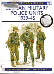 Cover of: German military police units, 1939-45