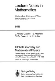 Cover of: Global geometry and mathematical physics |