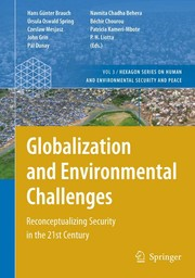 Cover of: Globalization and environmental challenges