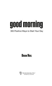 Cover of: Good morning | Brook Noel
