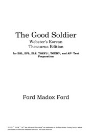 Cover of: The good soldier | Ford Madox Ford