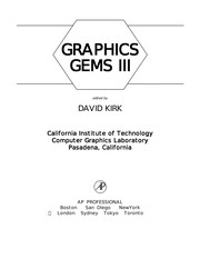 Cover of: Graphics gems III |