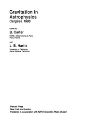 Cover of: Gravitation in Astrophysics | B. Carter