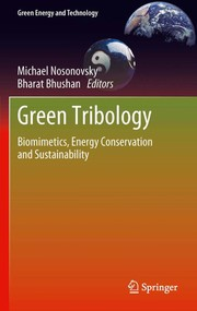 Cover of: Green tribology