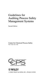 Cover of: Guidelines for auditing process safety management systems | American Institute of Chemical Engineers. Center for Chemical Process Safety