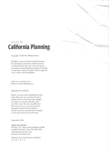 Guide to California Planning by Fulton