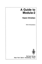 A Guide to Modula-2
