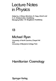 Cover of: Hamiltonian cosmology | Michael P. Ryan