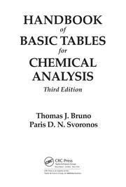 Cover of: CRC handbook of basic tables for chemical analysis | Thomas J. Bruno